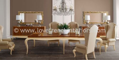 Luxus Dining Collection in Brown and Cream